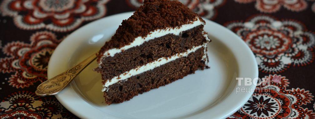 Торт с творожным кремом - Рецепт