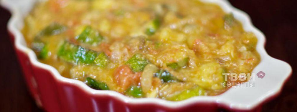 Цукини тушеные в томатах - Рецепт