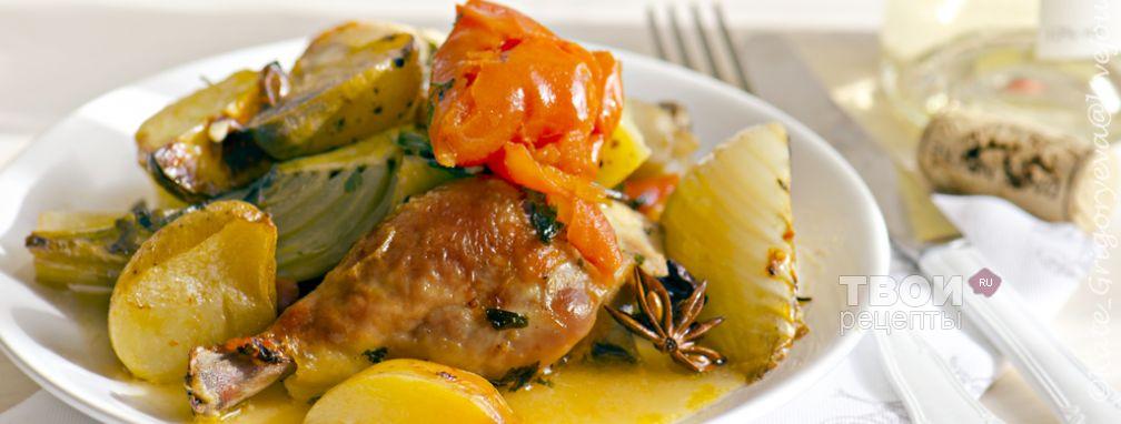 Цыпленок с фенхелем и травами - Рецепт