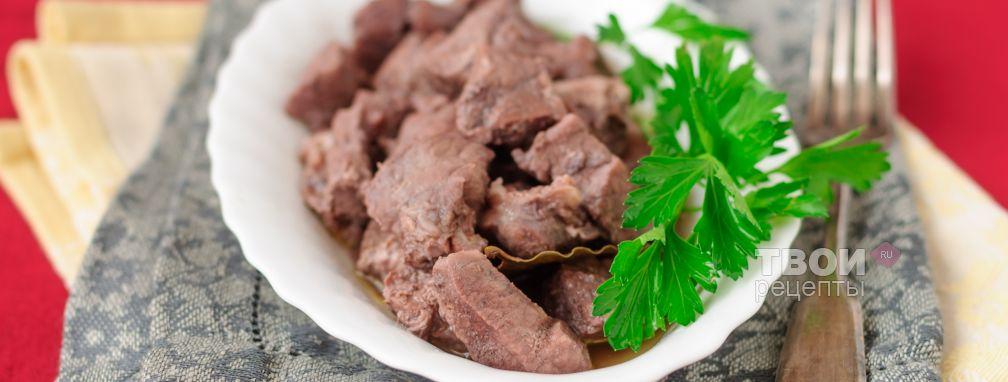 Тушеная свинина в мультиварке - Рецепт