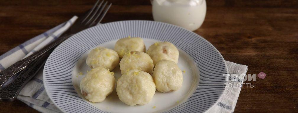 Творожные шарики с изюмом - Рецепт