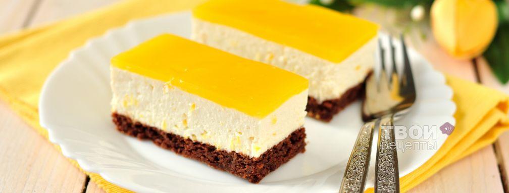 Творожный торт с апельсинами - Рецепт