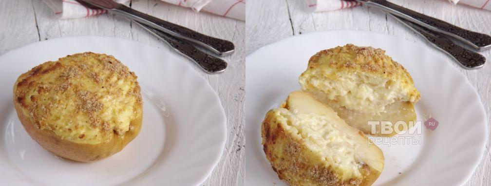 Яблоко, фаршированное творогом - Рецепт