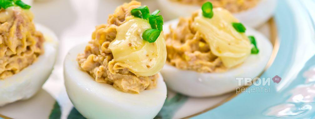 Яйца с печенью трески - Рецепт