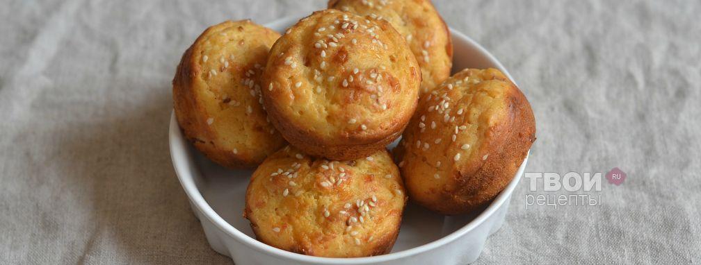 Закусочные маффины с ветчиной и сыром - Рецепт