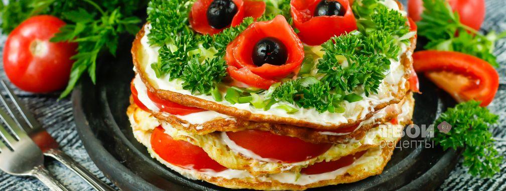 Закусочный торт из кабачков - Рецепт