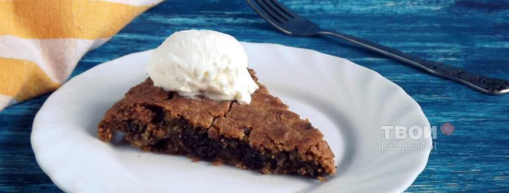 Запеченное печенье с шоколадом  от Марты Стюарт - Рецепт