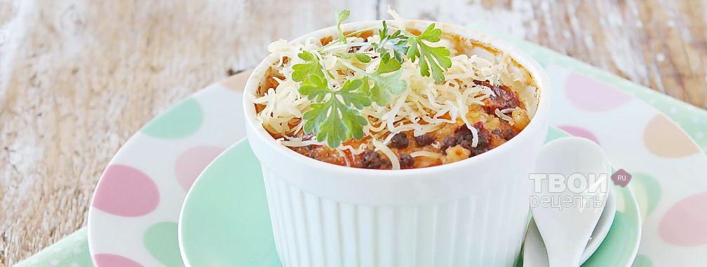 Запеканка из макарон с фаршем - Рецепт