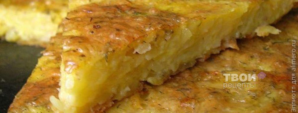 Запеканка из тертого картофеля с сыром и чесноком - Рецепт