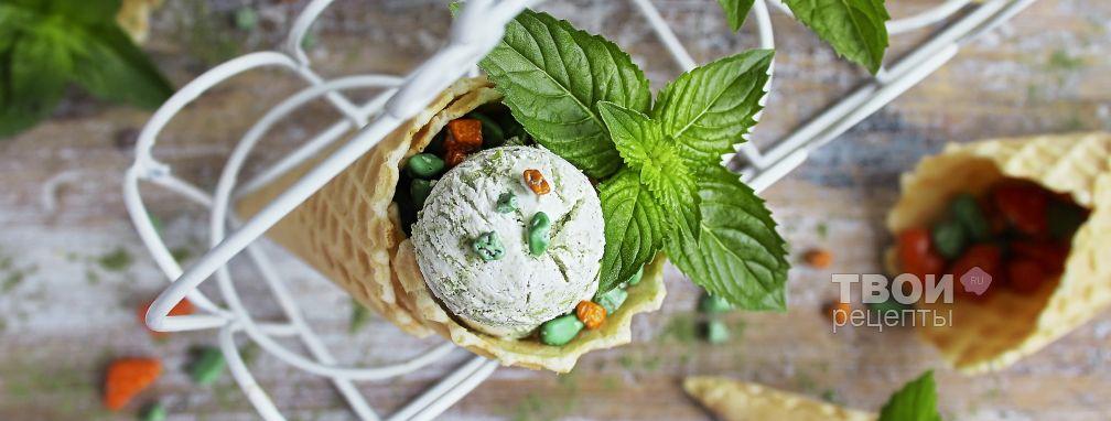 Зеленое мороженое - Рецепт