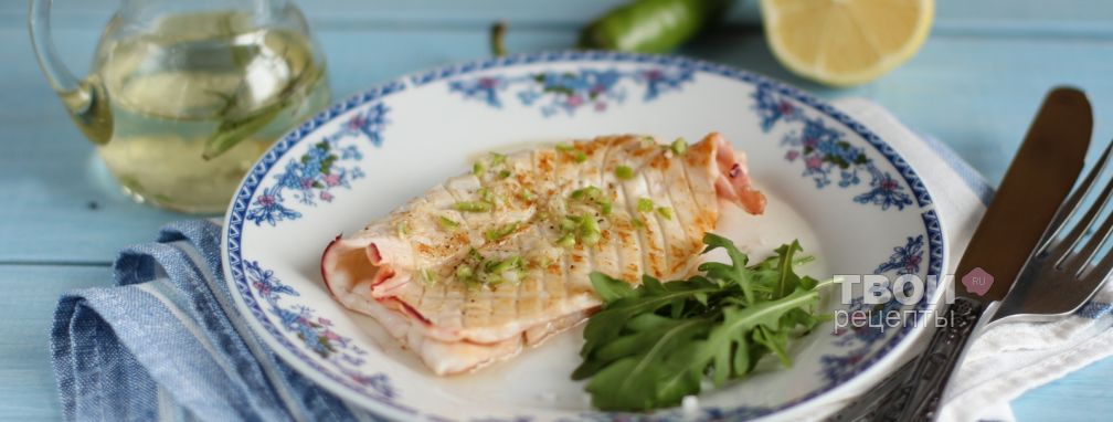 Жареный кальмар  - Рецепт