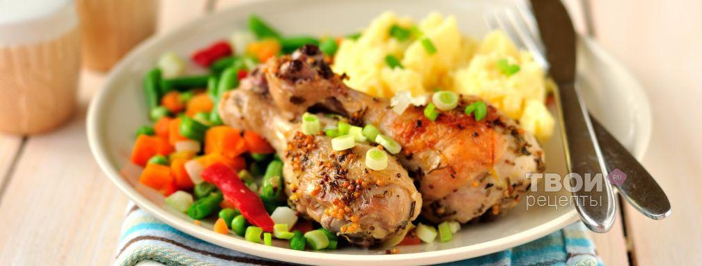 Жаркое из курицы с горчицей, лимоном и розмарином - Рецепт