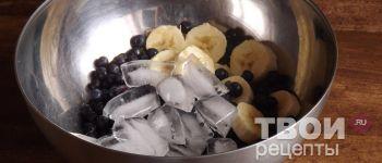 Чернично-банановый смузи - пошаговый рецепт приготовления с  фотографиями