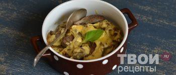 Говяжья печень под сыром - Рецепт