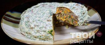 Печеночный торт - Рецепт
