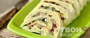 Рулет из картофеля и селедки - Рецепт