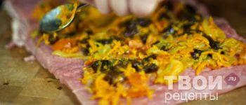 Рулет из свинины с овощами - пошаговый рецепт приготовления с фотографиями