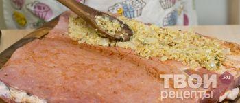 Свиной рулет фаршированный булгуром - рецепт с фотографиями