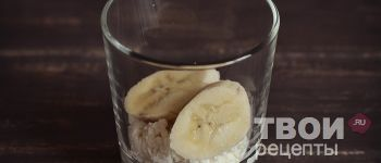 Творожный десерт с печеньем и бананом - рецепт приготовления с  фотографиями