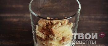Творожный десерт с печеньем и бананом - рецепт с фотографиями