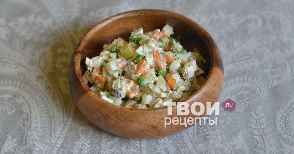 Оливье с курицей и ветчиной рецепт