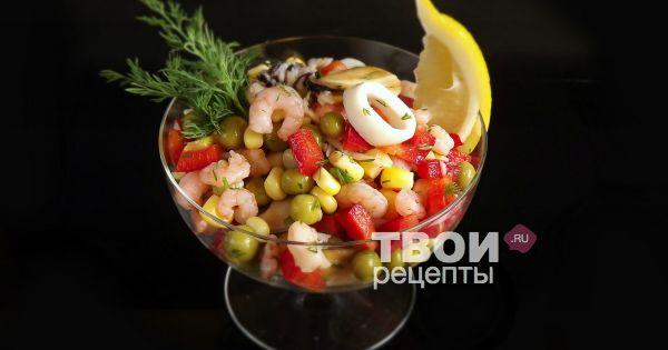 китайский салат с морепродуктами рецепт