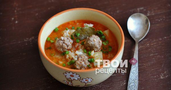 Как варить суп с фрикадельками и рисом пошаговый рецепт