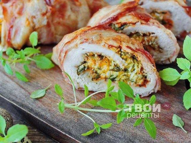 Курица в беконе рецепт с фото