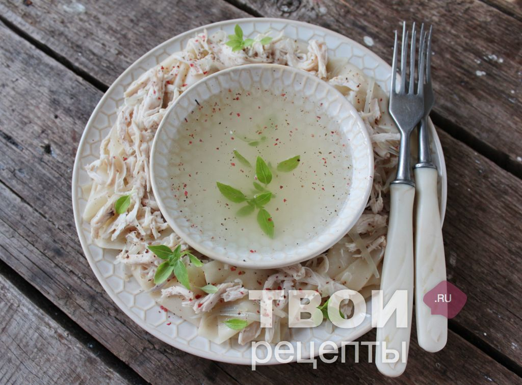 Бешбармак из курицы рецепт с фото