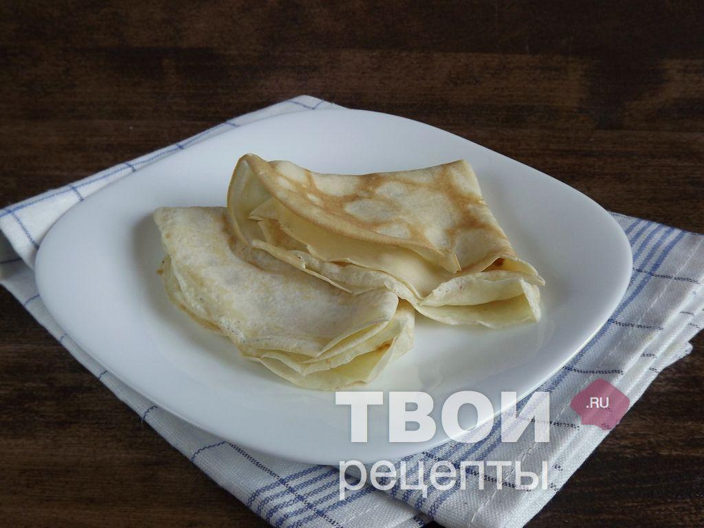 Блинчики с яблоками рецепт с пошагово