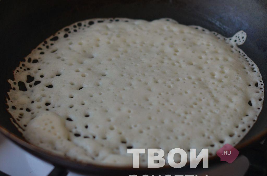 рецепт блинов из ряженки