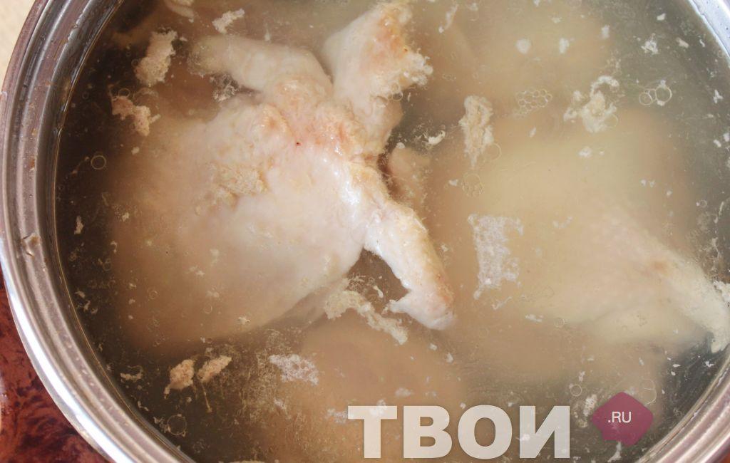 Рецепт борща с курицей пошаговый