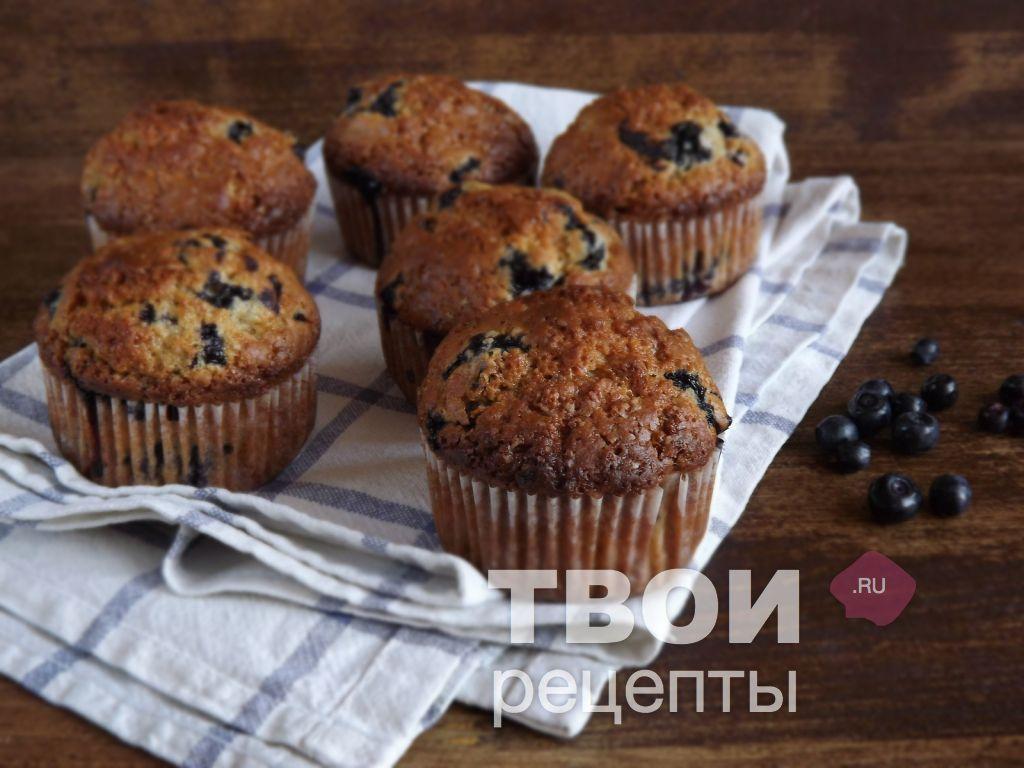маффины с черникой рецепт с фото пошагово