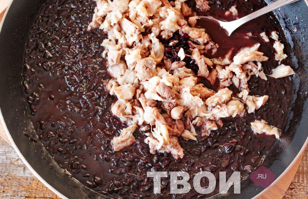 как приготовить черный рис на гарнир