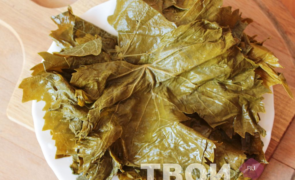 Долма из виноградных листьев рецепт с пошагово
