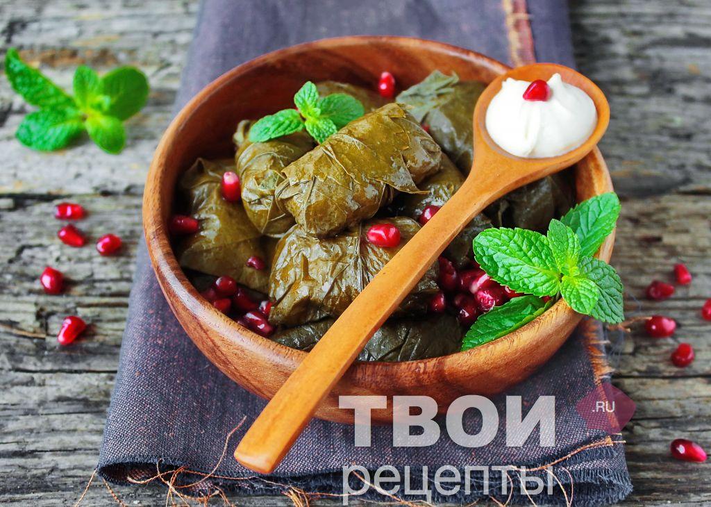 Турецкая долма из виноградных листьев рецепт пошагово