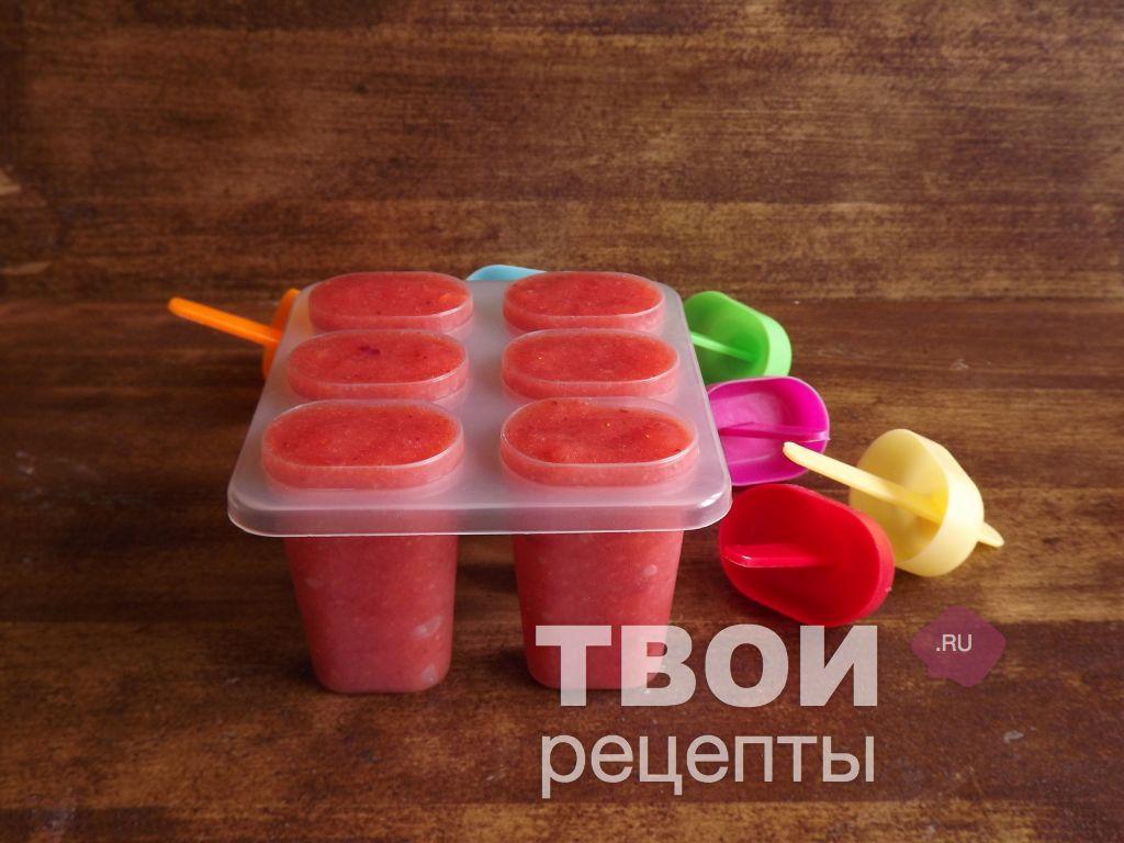 Как сделать фруктовый лед в формах