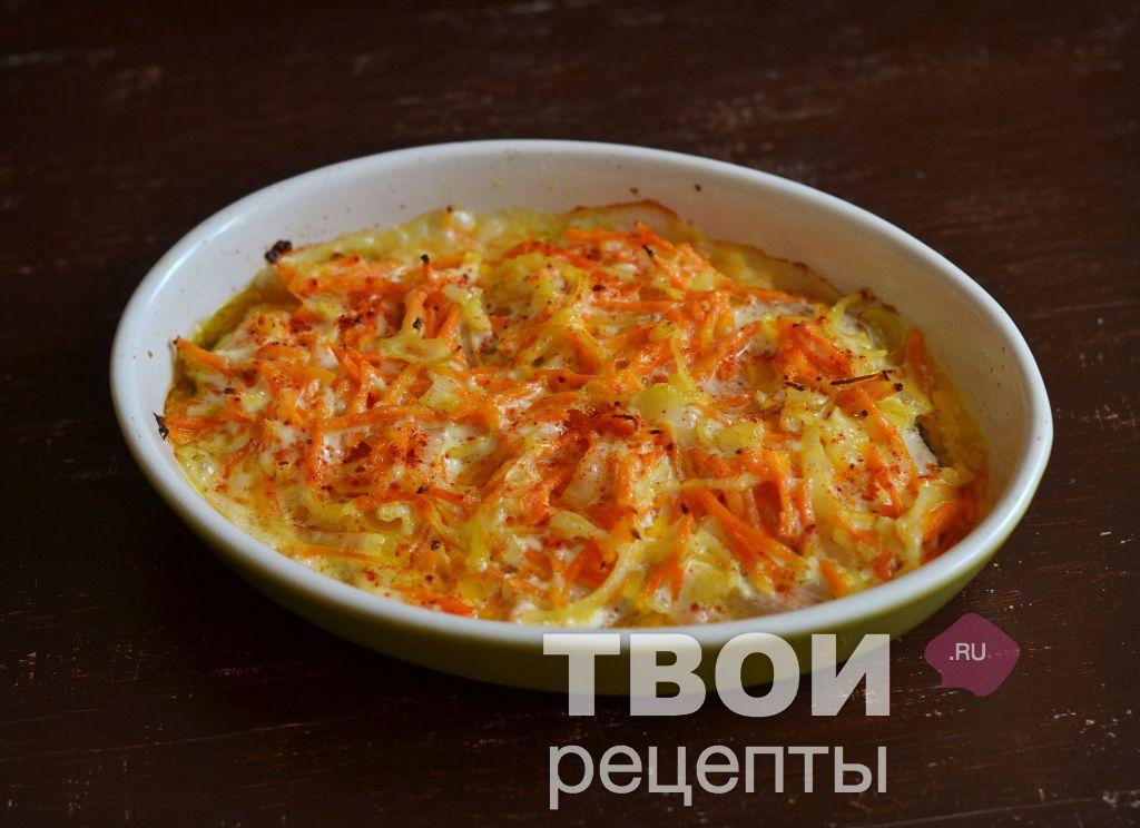 горбуша морковь в духовке рецепт