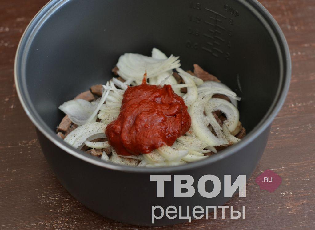 Говядина тушеная в томатной пасте рецепт с пошагово