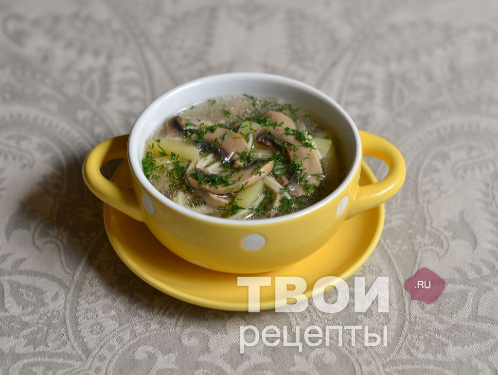 рецепт грибного супа из сухих грибов в мультиварке