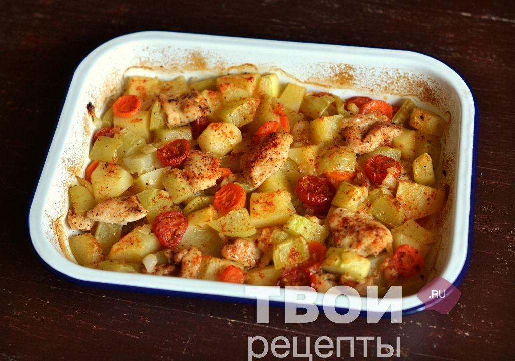 приготовить филе индейки в духовке с овощами рецепт