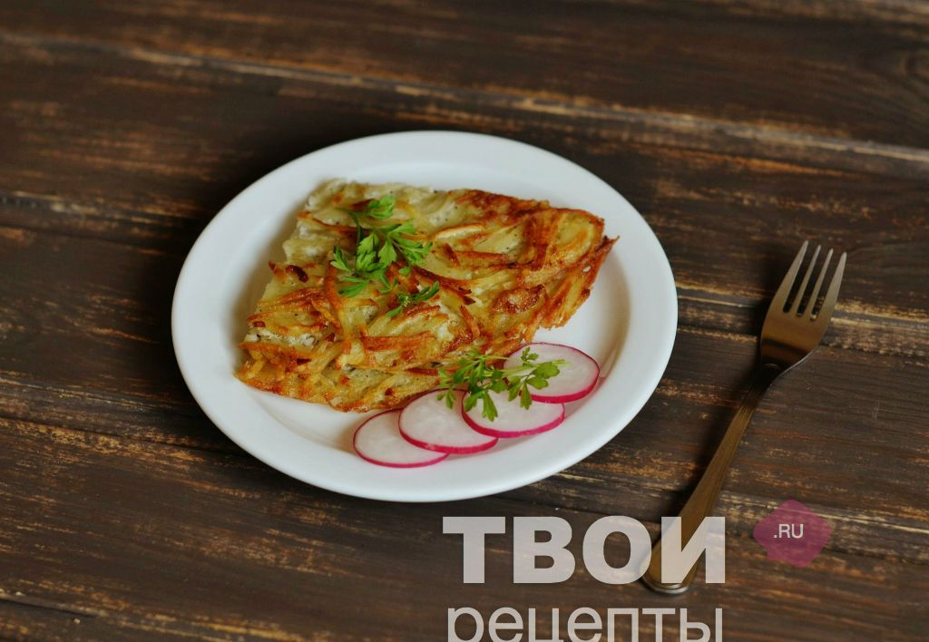 Картофельный омлет на сковороде