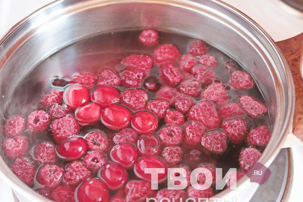 Рецепт из замороженных ягод с фото