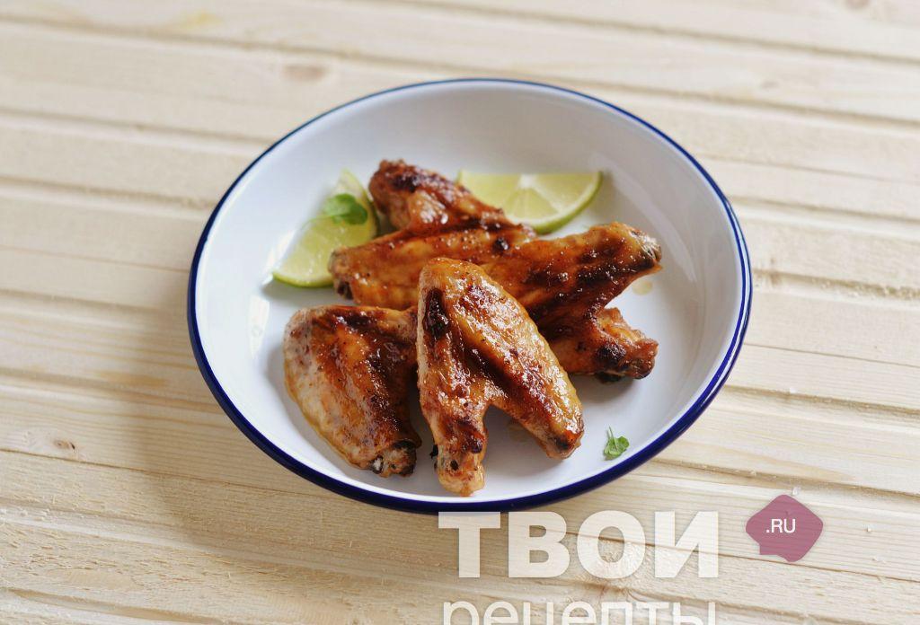 куриные крылышки в духовке рецепт в барбекю