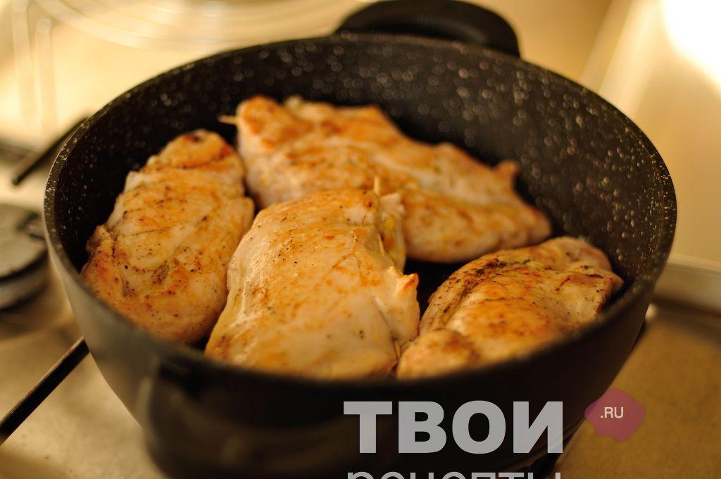 рецепт куриной грудки с черносливом на сковороде