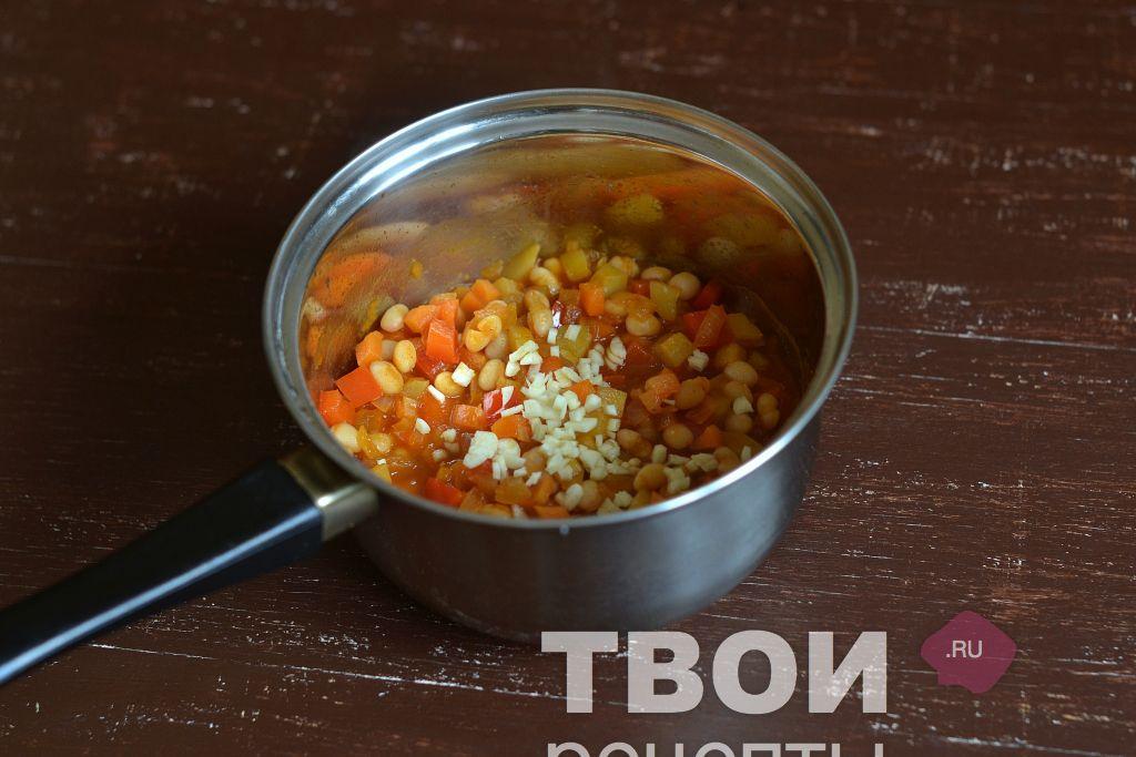 Рецепт фасоль тушеная с овощами с фото пошагово