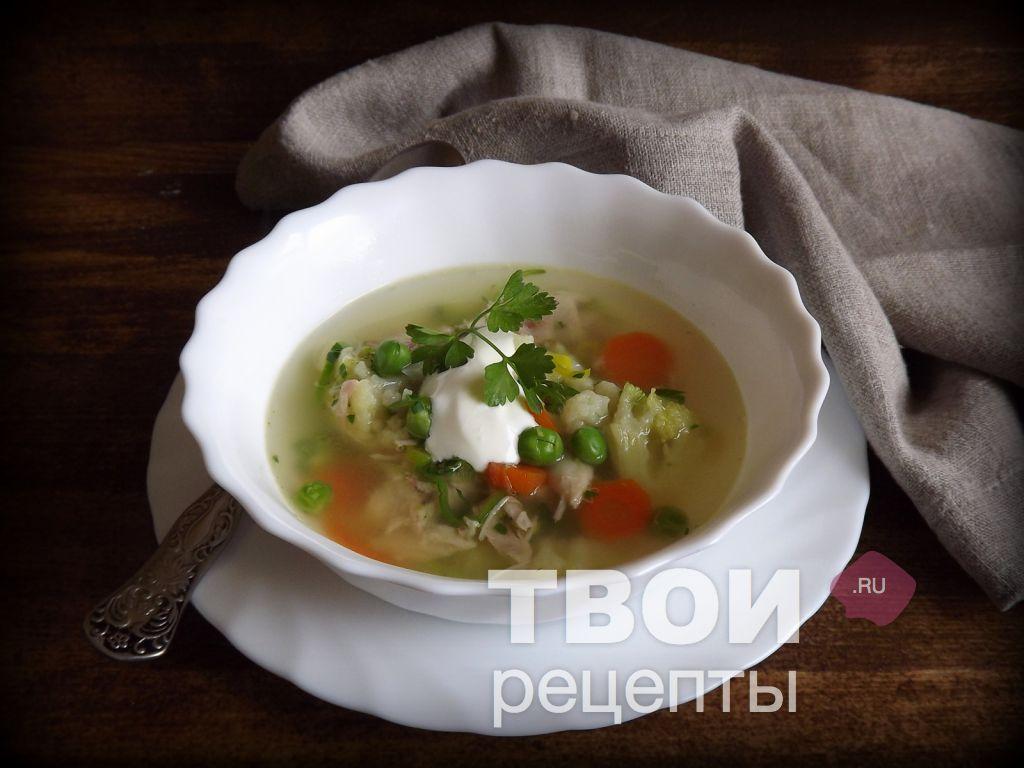 Овощной суп рецепт пошагово с курицей