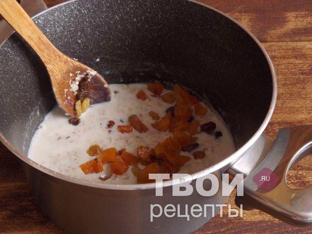 Геркулесовая каша с сухофруктами рецепт пошагово
