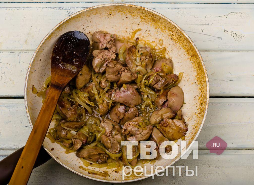 Жареная куриная печень с луком - Дело Вкуса 50