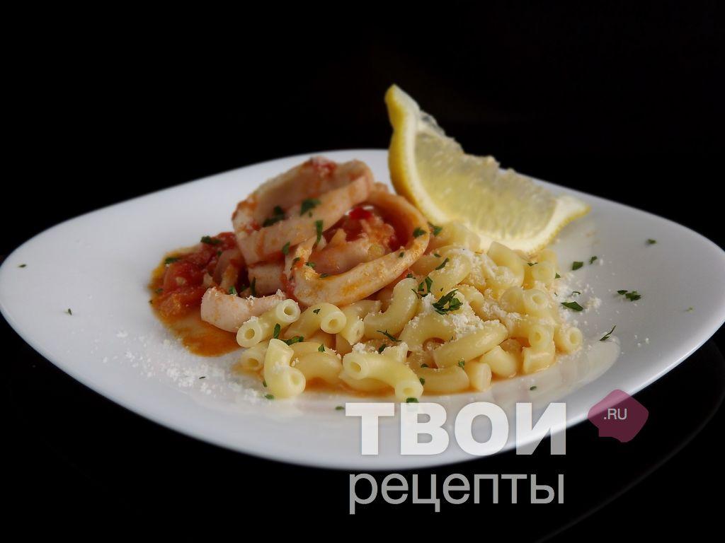 Паста с кальмарами пошаговый рецепт с фото